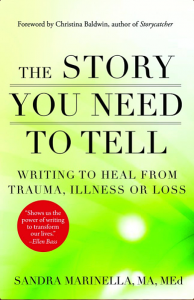 The Story You Need to Tell by Sandra Marinella is an excellent book on expressive writing or wellness writing.